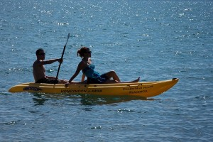 Honeymoon Kayak Chabil Mar Resort Belize