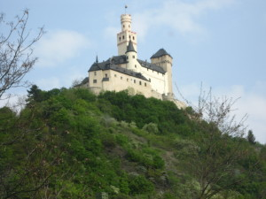 Marksburg Castle high above the Rhine