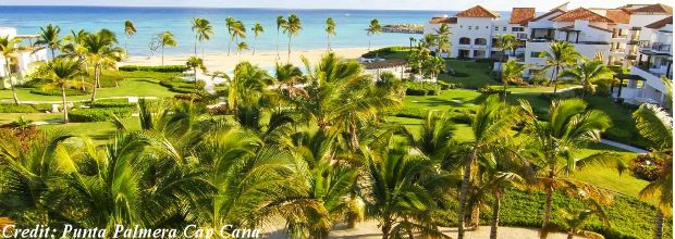 View of the recently-opened, luxury resort, Punta Palmera Cap Cana, Punta Cana, Dominican Republic.