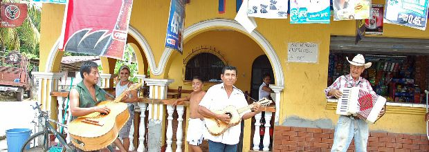 Denizens of the small town of Mariscos have seen few tourists (so far), but they welcome all with smiles and music.