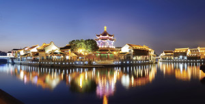 Suzhou Garden at night - Thinkstock 159434151