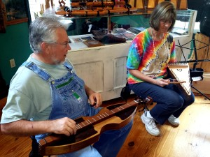 Mike and Connie Clemmer, owners of wood-n-strings