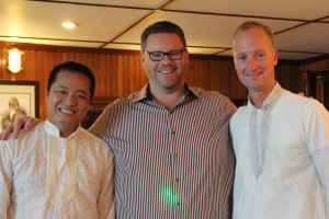 Haimark's three partners, Giang Hoang Hai, Tom Markwell and Marcus Leskovar. (photo by G. Dubov)