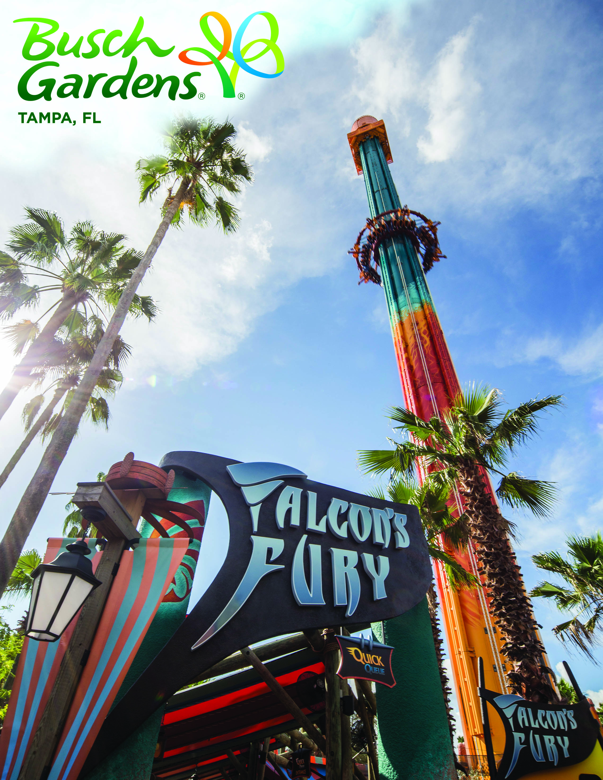 ... North Americau0027s Tallest Freestanding Drop Tower Falconu0027s Fury  Officially Opened Earlier This Month At Busch Gardens In Tampa, Florida.